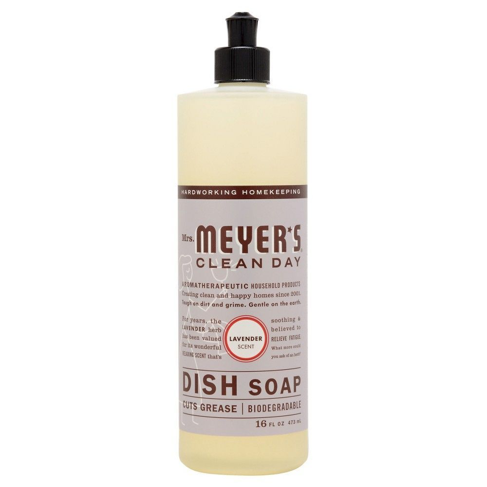 Mrs Meyer S Clean Day Lavender Scent Liquid Dish Soap 16oz Liquid Dish Soap Dishwasher Soap Cleaning Day