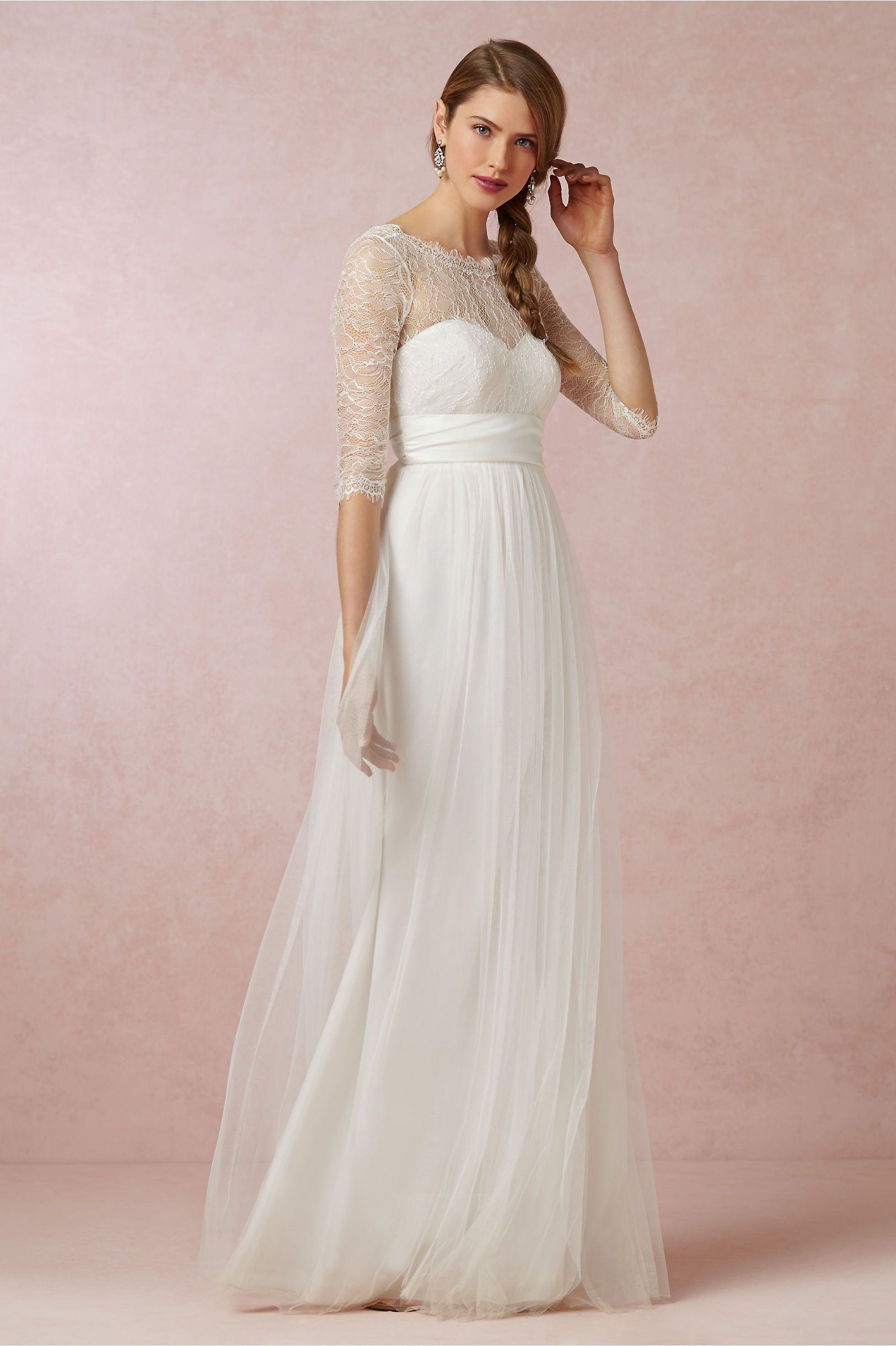 Bhldn Annabelle Dress Marnie Topper In Bride Wedding Dresses At