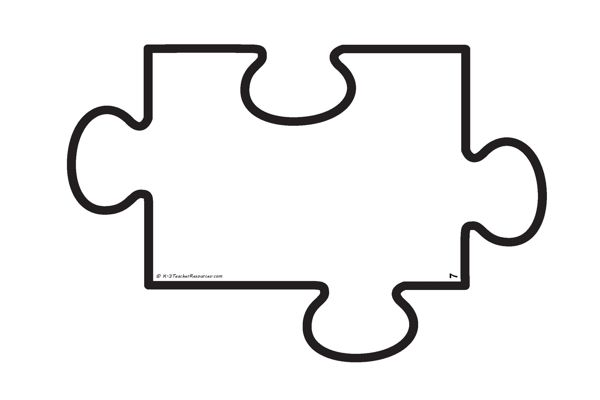 Blank Jigsaw Puzzle Template  Individual A Size Pieces Make Up