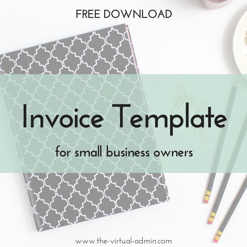 Free invoice template for small business owners   The Virtual Admin     Free invoice template for small business owners   The Virtual Admin    virtual assistant services for health  wellness and creative entrepreneurs
