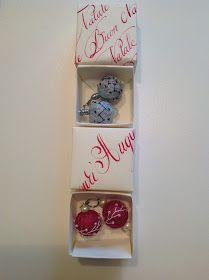 Earrings and boxes