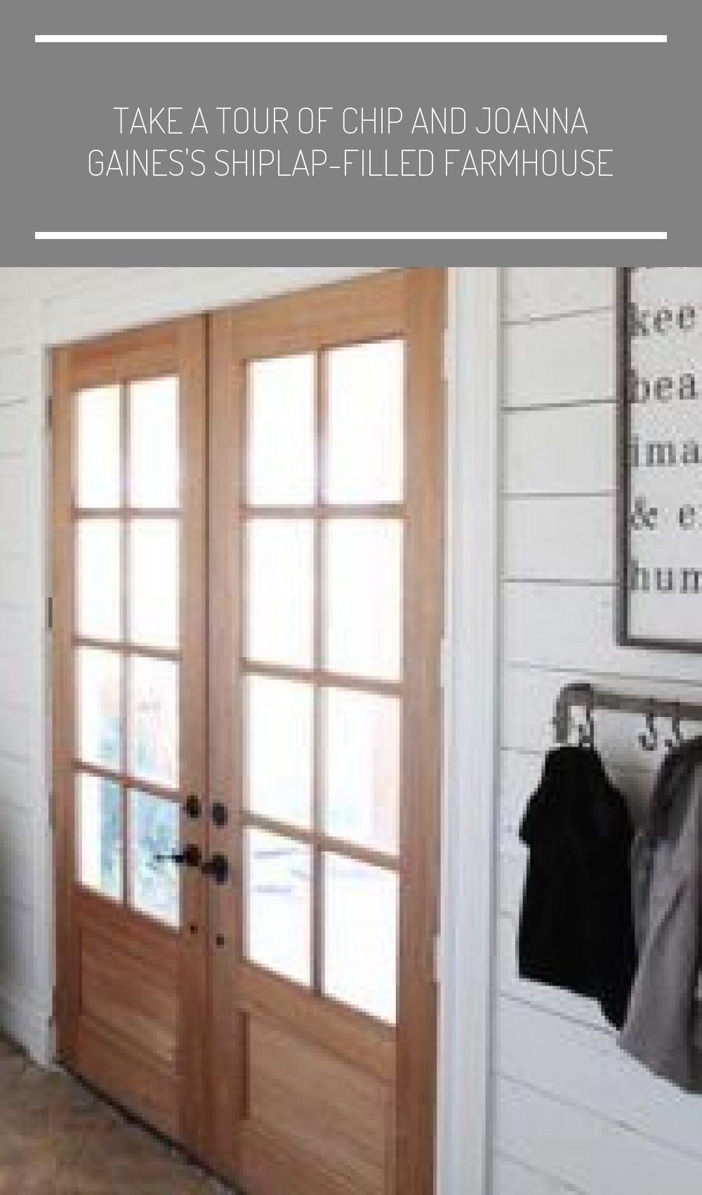 Chip and Joanna Gaines House Tour – Fixer Upper Farmhouse #farmhouse lighting ….. - modern farmhouse decor living room