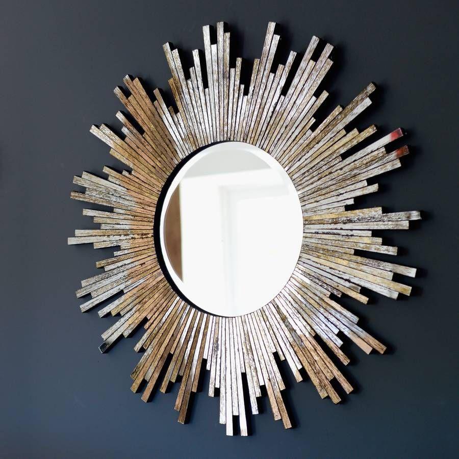 Large Burnished Sunburst Mirror Sunburst Mirror Sunburst Wall