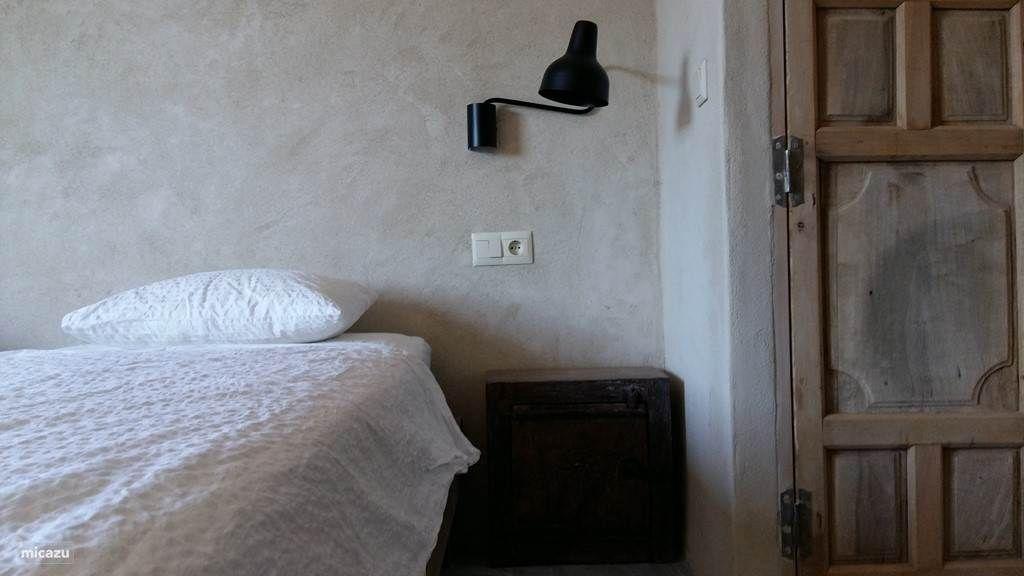 Detail slaapkamer boven.De bedden kunnen als 2 persoons bed worden ...
