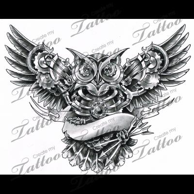 Steampunk Mechanical Owl Finally Ahaha 99771 Steampunk Tattoo Owl Tattoo Design Owl Tattoo
