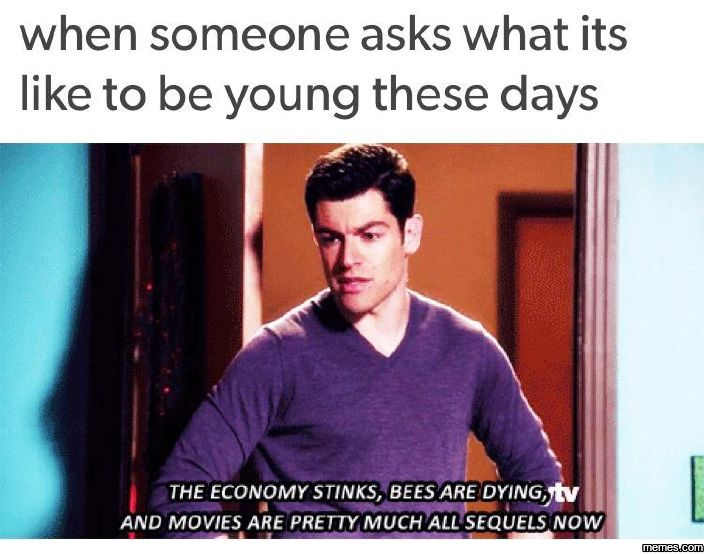 What it's like to be young these days