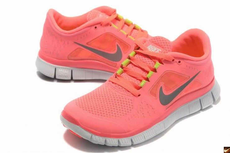 promo code 8d781 18f06 2013 New Arrival Nike Free 5.0 V3 Womens Running Shoes Pink grey I need  these!