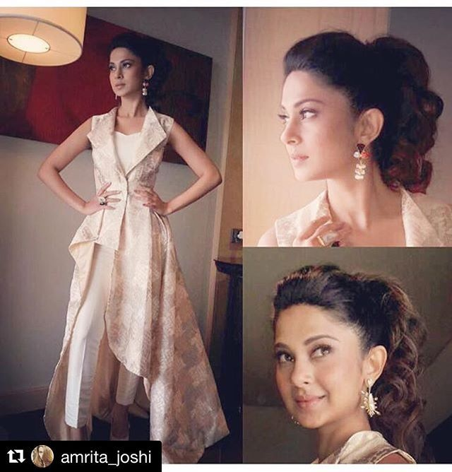 #Repost @amrita_joshi with @repostapp ・・・ Beyhad Promotions Continue!! 😊 Jacket By @rozinavishram  Accessories By @bayleafaccessories_in  Makeup By @mukesh.patil.1806  Hair By @jadhavsharda  Styled By @amrita_joshi