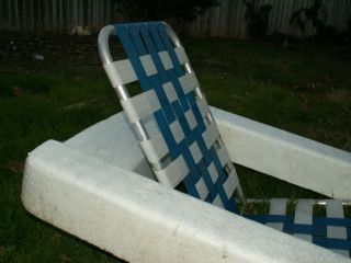 Vtg Mid Century Aluminum 60 S 70s Swimming Pool Floating Lawn Lounge Float Chair