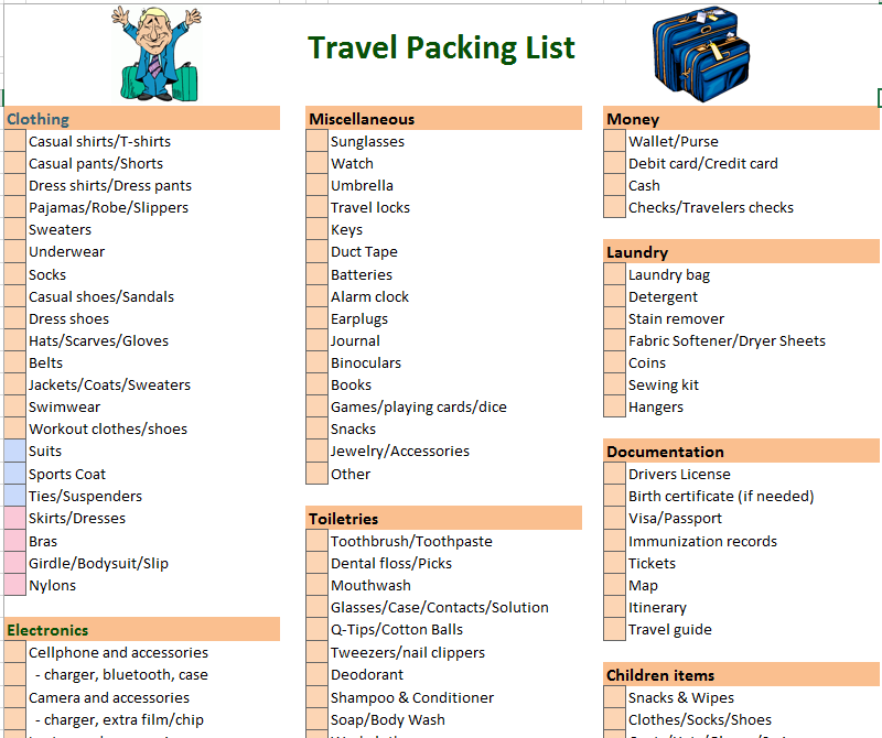 Travel checklist template yahoo image search results travel travel checklist template yahoo image search results maxwellsz