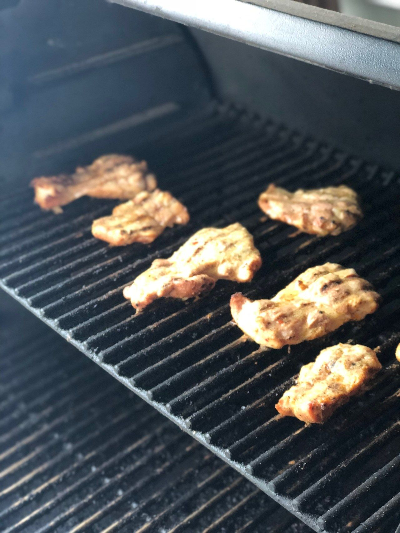 Frozen to fabulous smoky grilled chicken thighs on the
