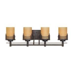 Cordelia Lighting Mission Hills Collection 4 Light Wall Mounted Warm Mahogany Vanity-HC0554 at The Home Depot. have a whole collection I would like.