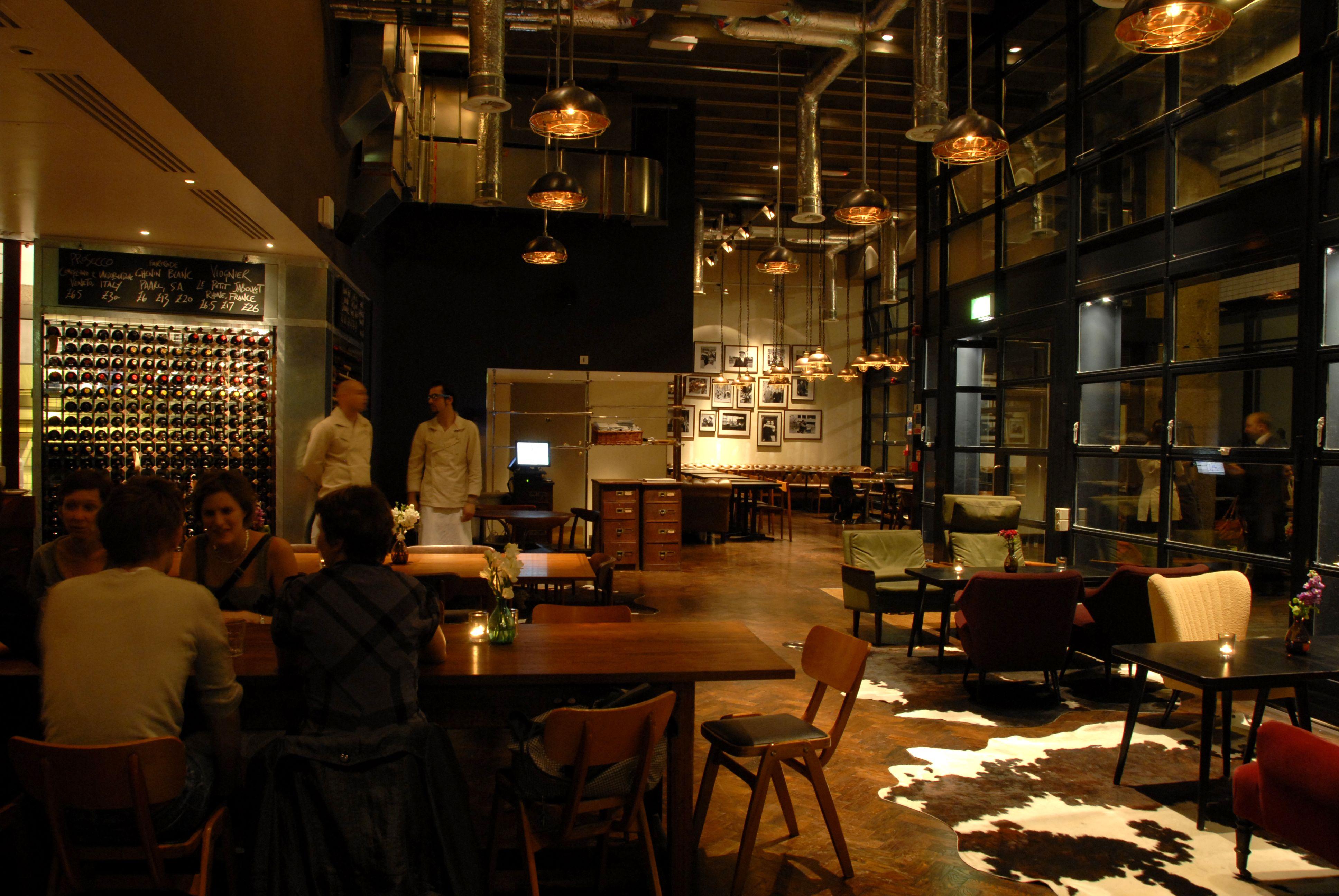 Light + Design - London Wall Bar Kitchen, London | Restaurants and ...