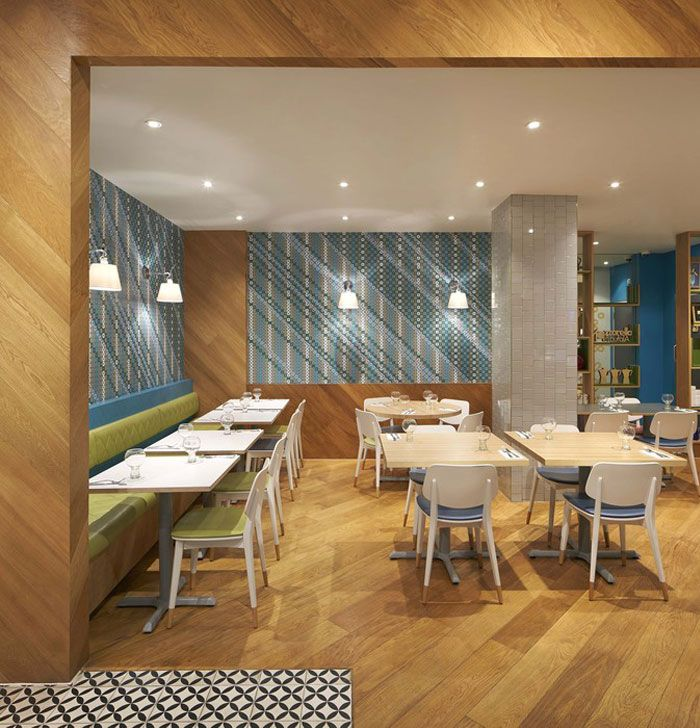 colorful ceramic tiles at the decor of an italian restaurant interiorzine