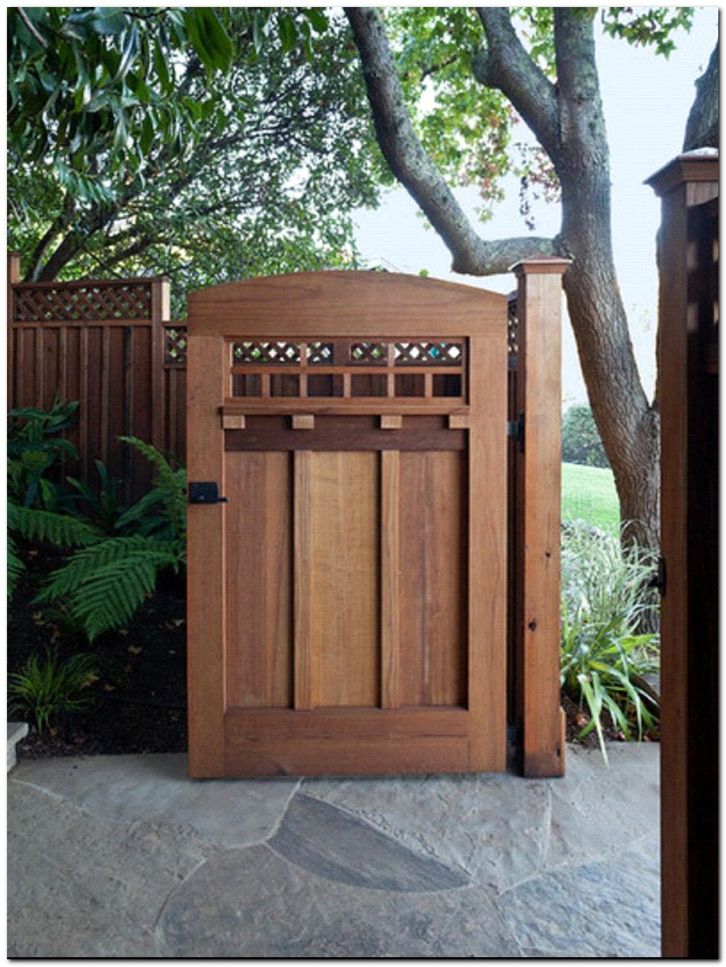 classic wooden gates will make your home look great fences