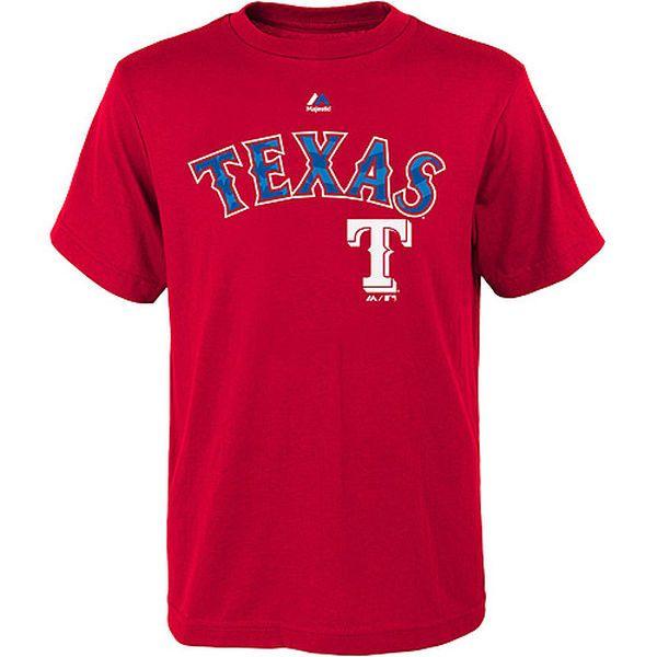 Texas Rangers Majestic Youth Proud Fan Stars Stripes T Shirt Red Stripe Tshirt Texas Rangers Texas Rangers T Shirts