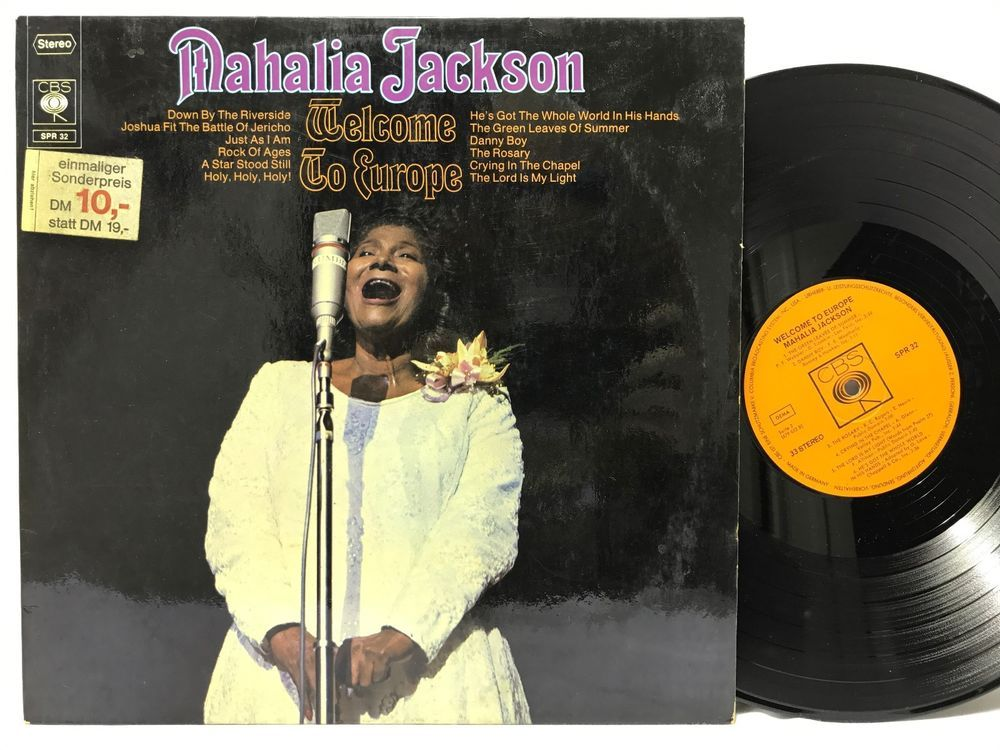 Mahalia Jackson Welcome To Europe Lp Vinyl Records German Pressing Import Vinyl Records Lp Vinyl Mahalia Jackson