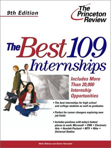 The Best 109 Internships, 9th Edition (Career « Library User Group - resume library