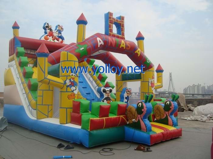 Mickey and Minnie inflatable #slide
