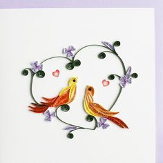 Love Birds Quilling Card - Fair Trade Winds