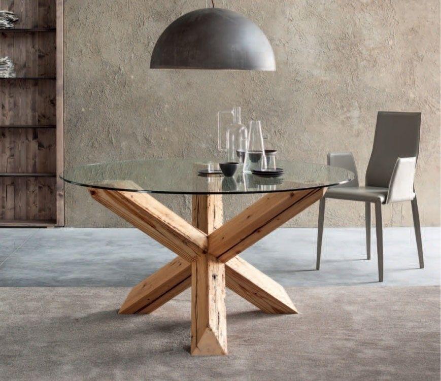 Tavolo rotondo design Travo con gambe incrociate #garneroarredamenti ...