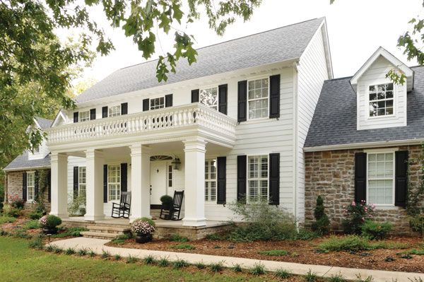 Colonial house with columns remodel google search remodel my white colonial pinterest for Colonial house exterior renovation ideas