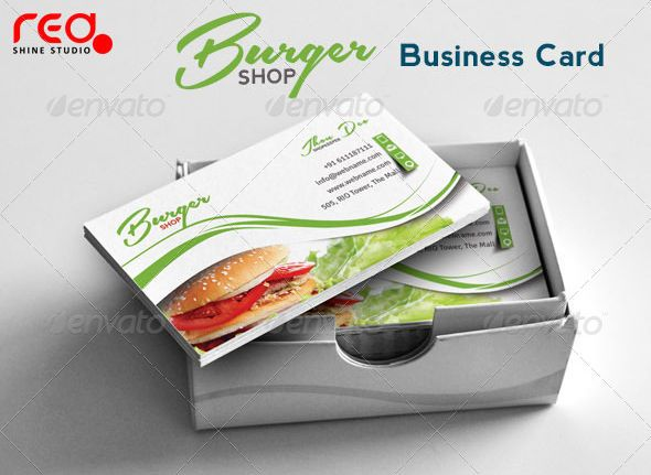 60 premium free business card templates free business cards burger shop business card template wajeb Image collections
