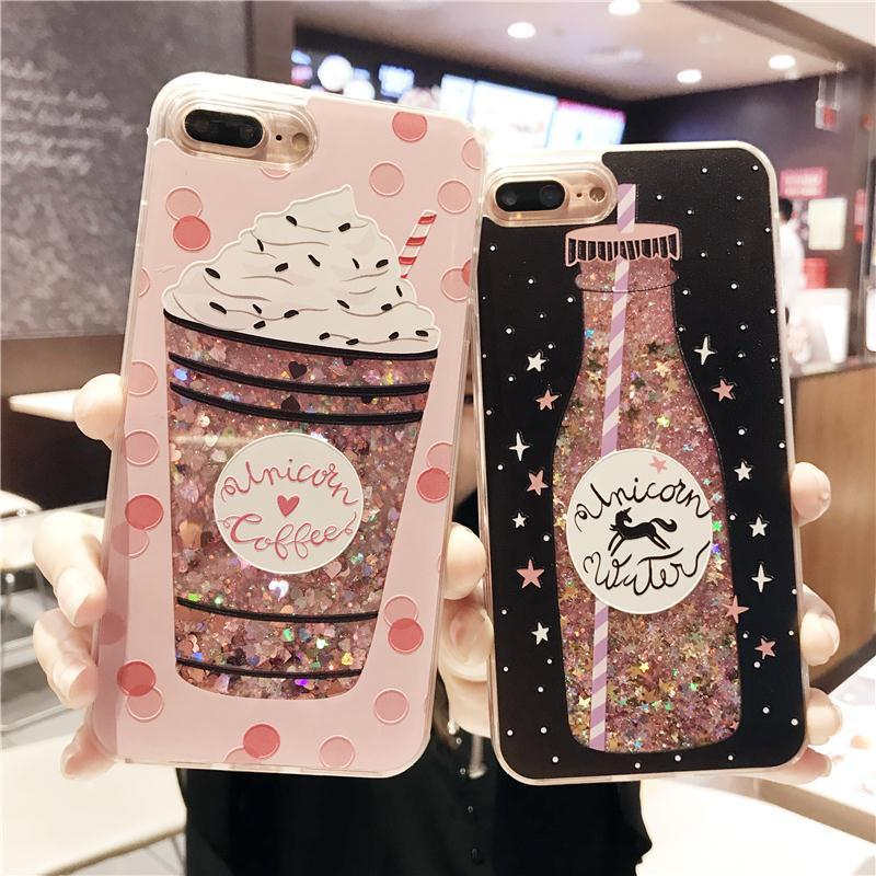 promo code 35e44 d3560 Liquid glitter iPhone case (Unicorn Coffee, Unicorn Water, Jewels ...