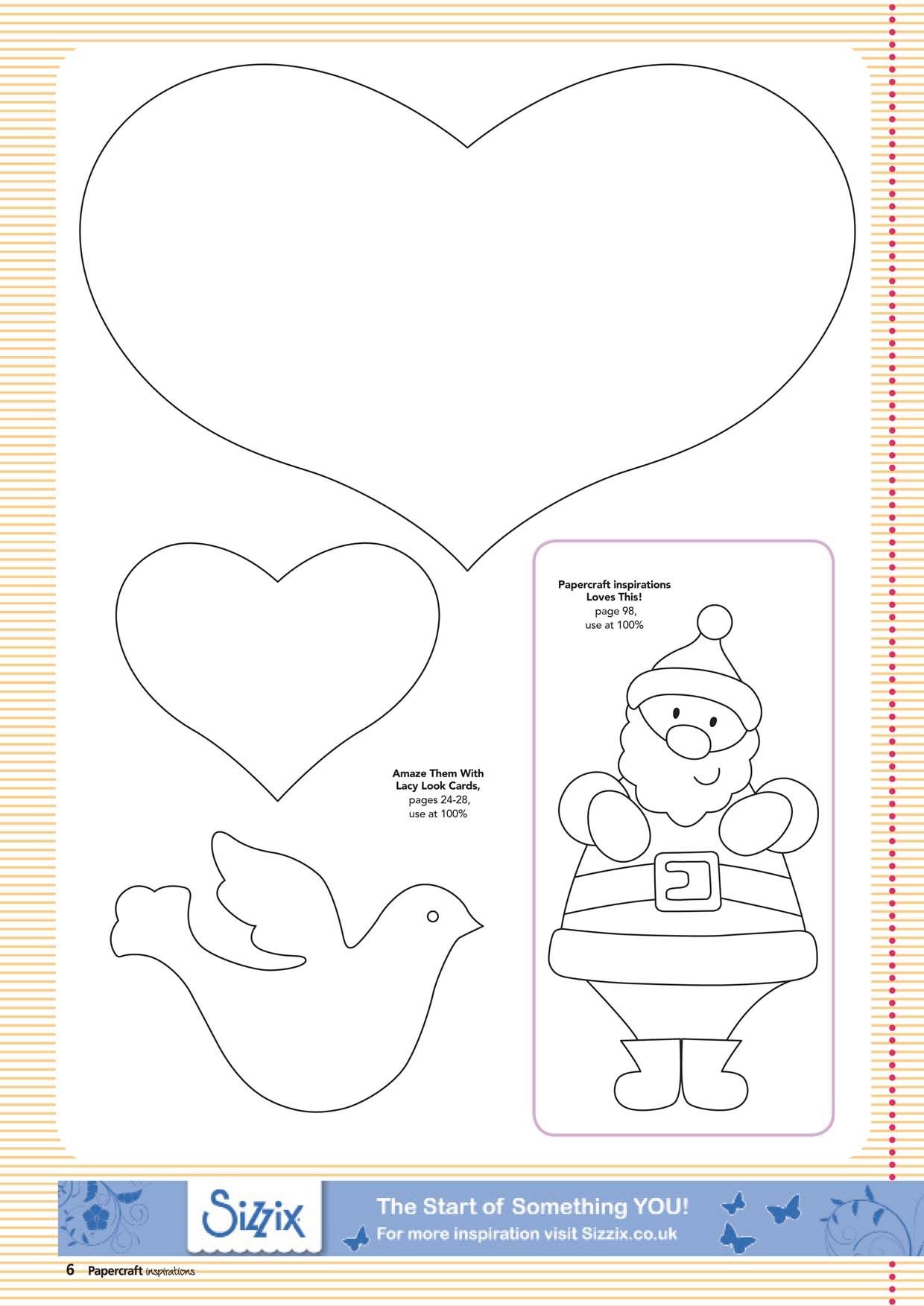 The Santa Would Be Cute Printed On Cardstock Colored And Used As Ornament