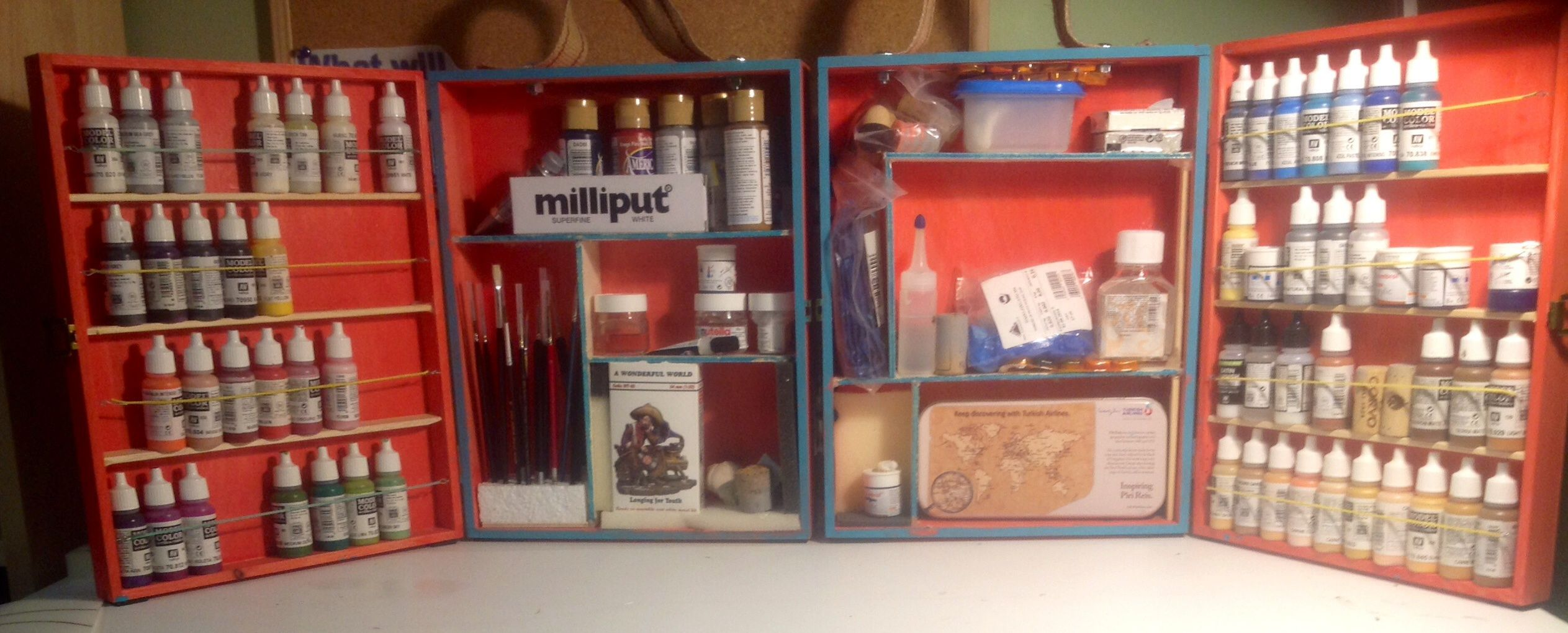 Completed My Personal Portable Paint Station