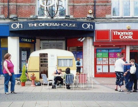 Caravan Gallery is an exhibition space, a caravan, and a visual arts project by British artists Jan Williams and Chris Teasdale