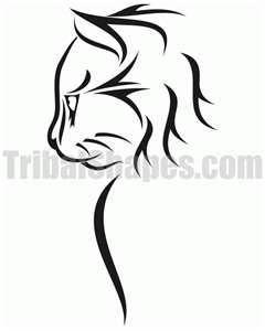 Cat 1 Tattoo Design