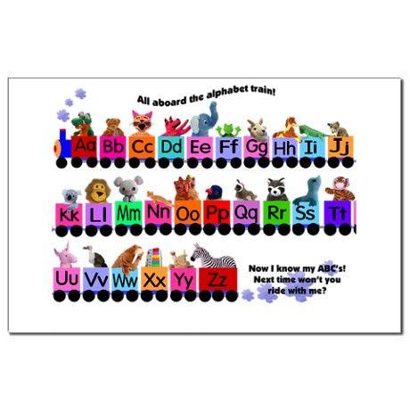 Alphabet Train Mini Poster Print by ARTPLAYgifts.com ...