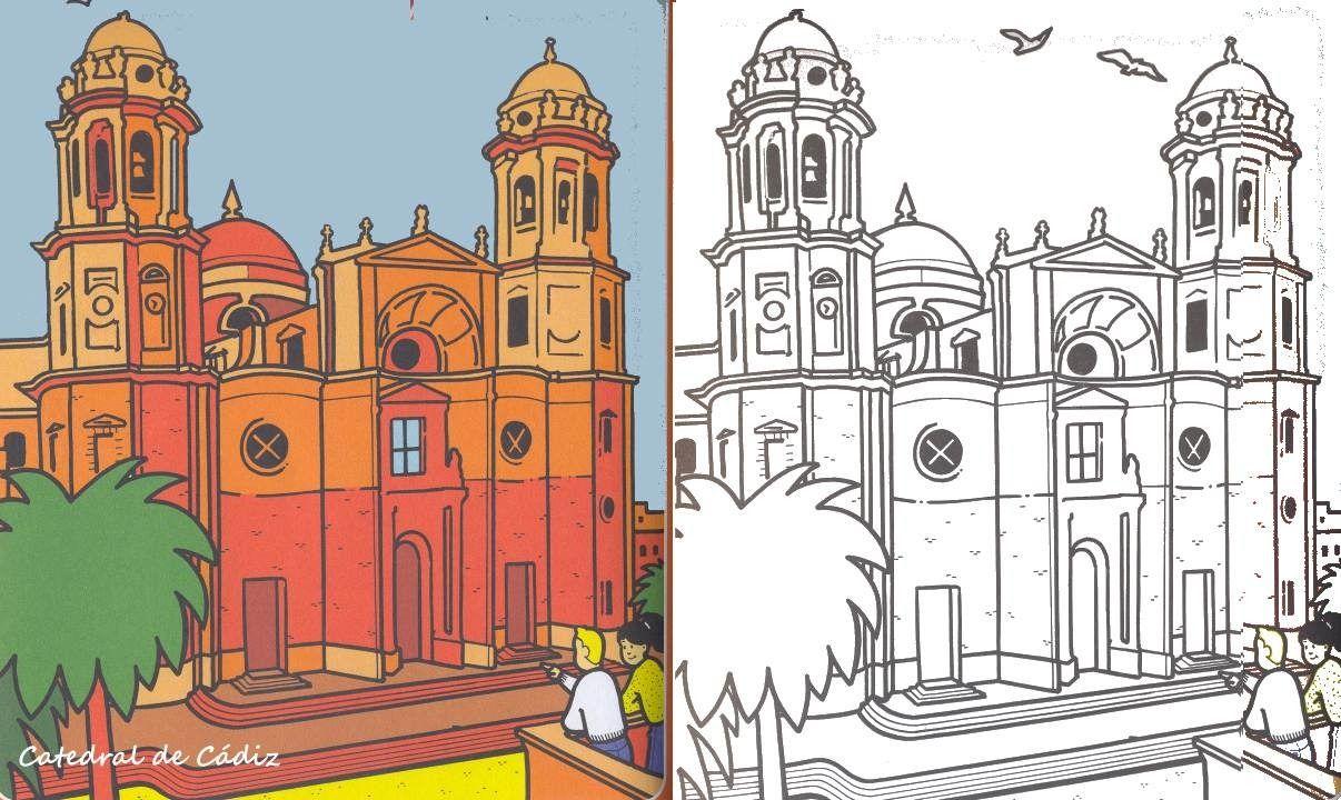 Catedral De Cadiz 1 3 Dia De Andalucia Andalucia Ciudad Para Dibujar