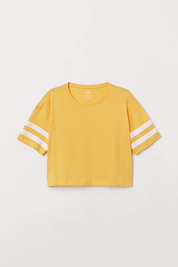 524cad47495caa H M Short T-shirt - Yellow
