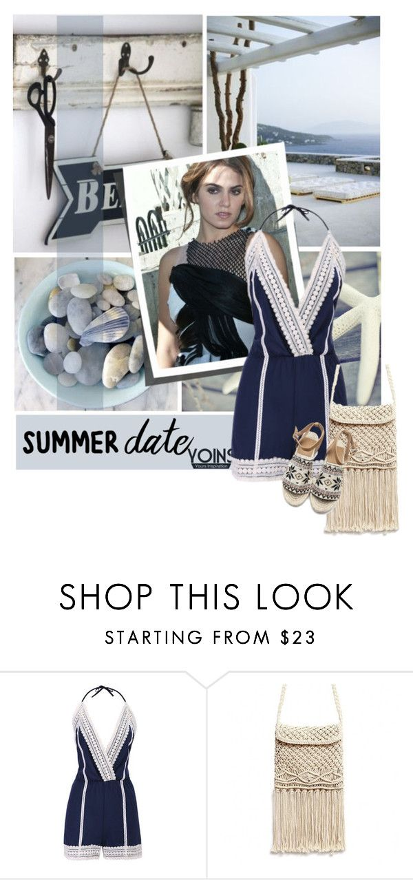 """""""Summer Date: The Beach-Yoins"""" by lacas ❤ liked on Polyvore featuring beach, summerdate, yoins, yoinscollection and loveyoins"""