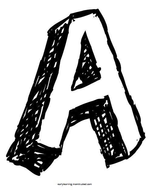 pop up letters alphabet coloring pages uppercase and lowercase - Letter A Coloring Pages