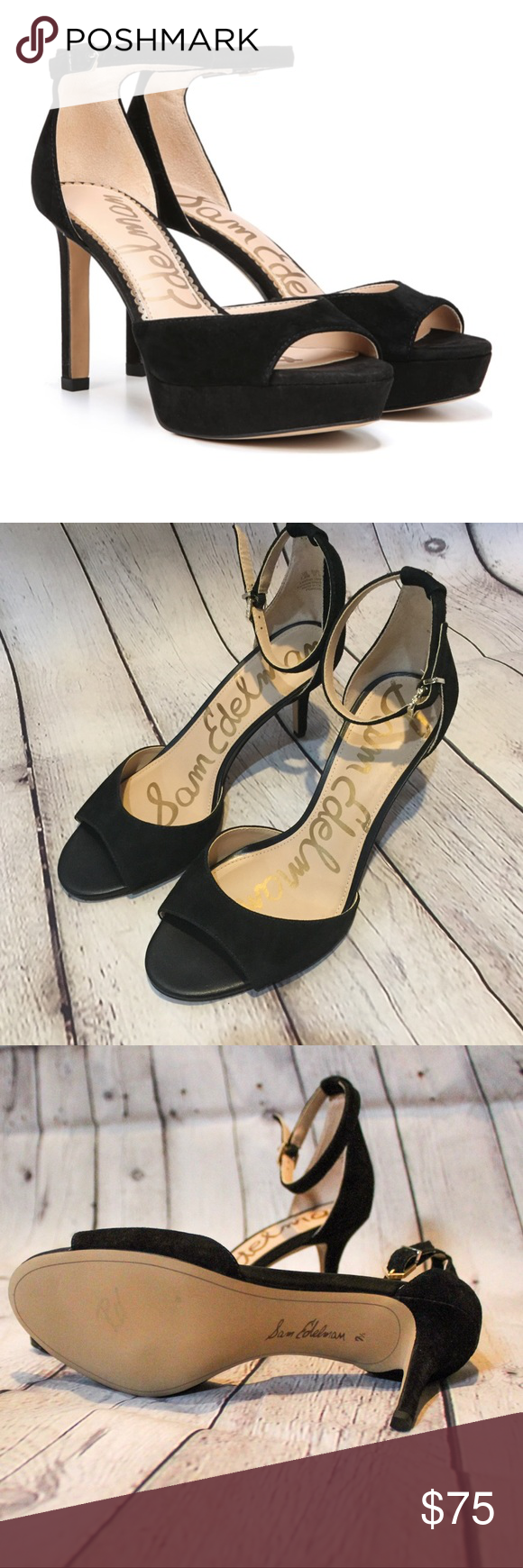726184cf684 Sam Edelman Suede Jerin heels black condition  preloved