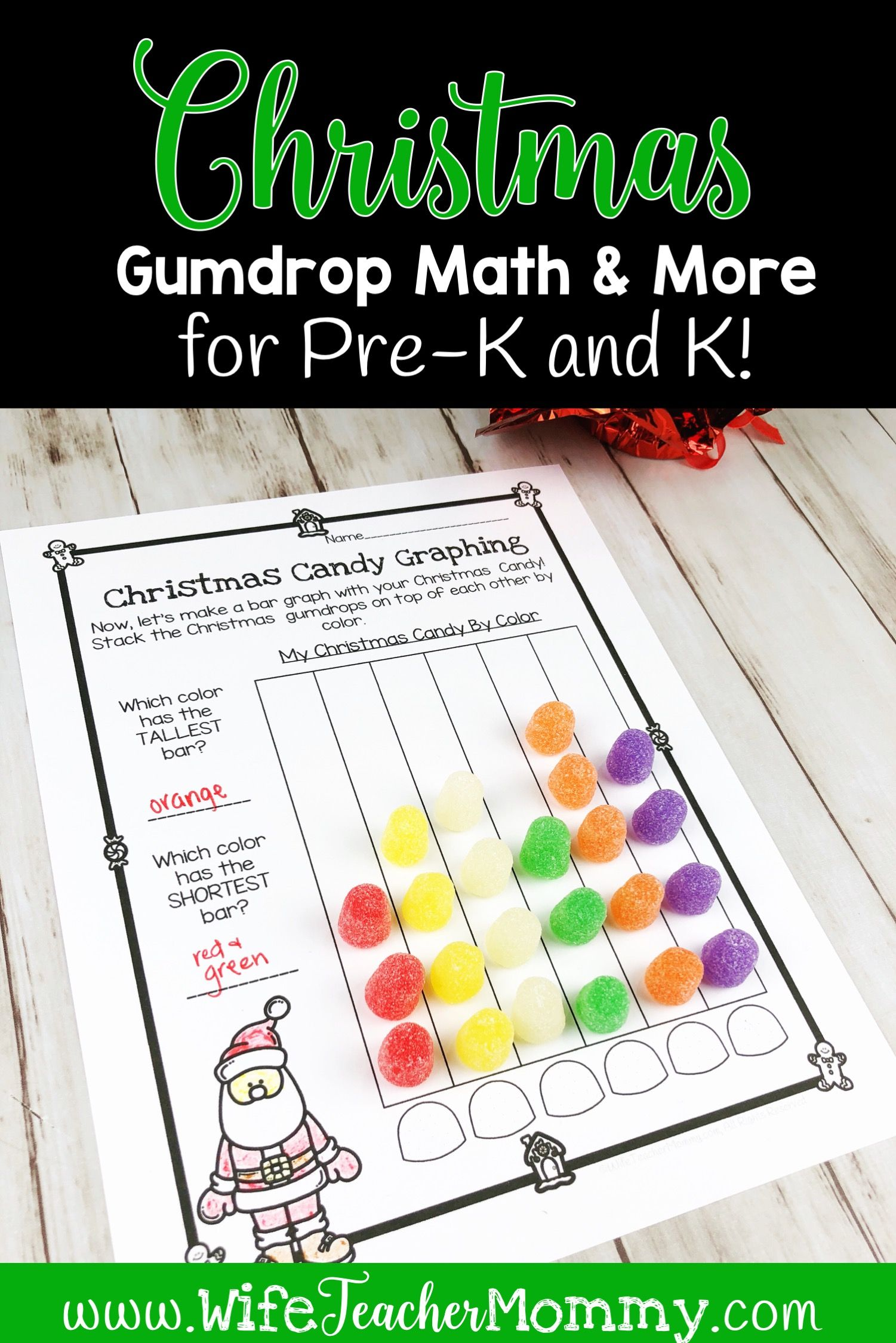 Christmas Gumdrop Math Activities Amp More For Kindergarten