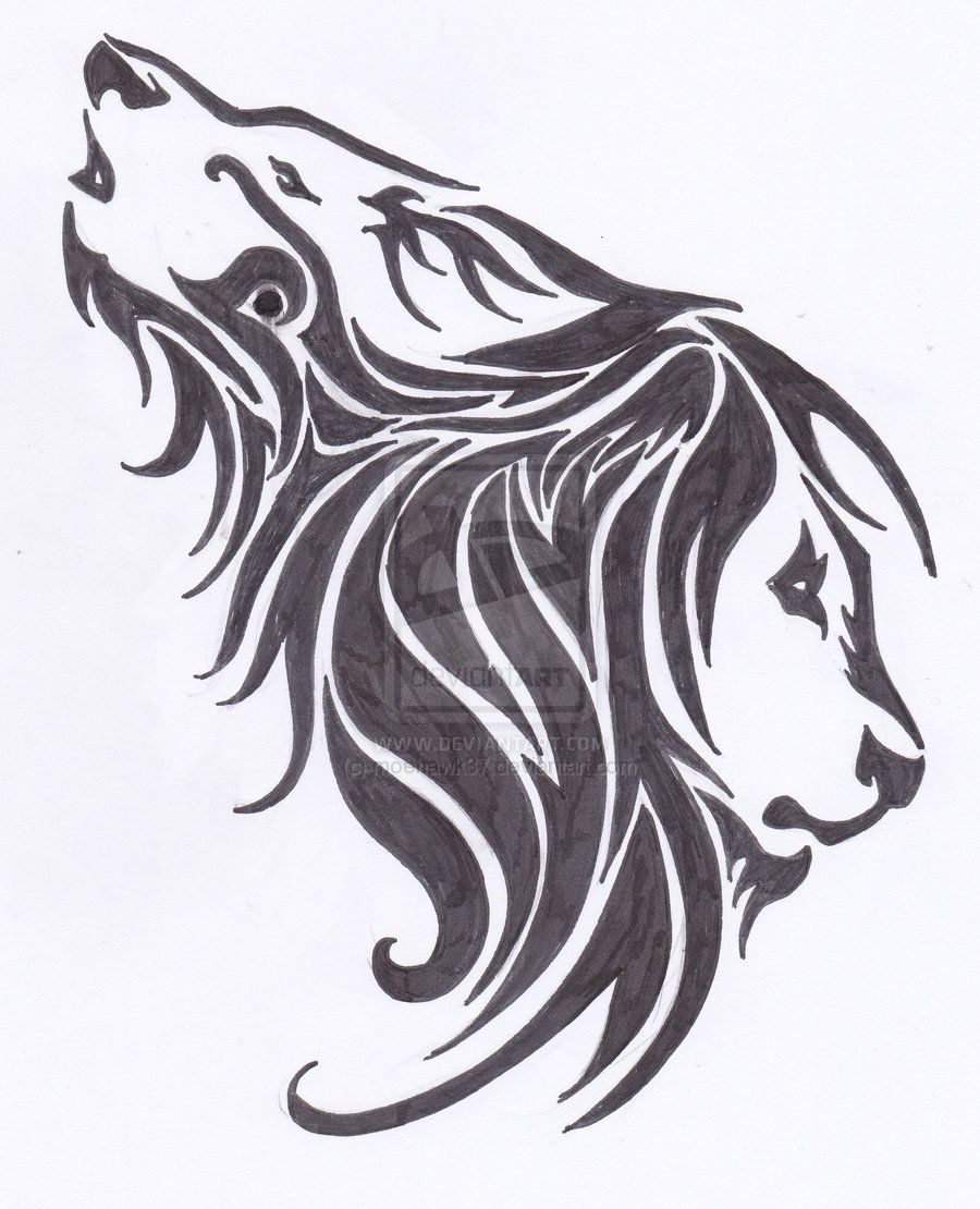 Tribal Wolf Eagle Lion Tattoo Design Real Photo Pictures Images And Tribal Lion Lion Tattoo Lion Tattoo Design