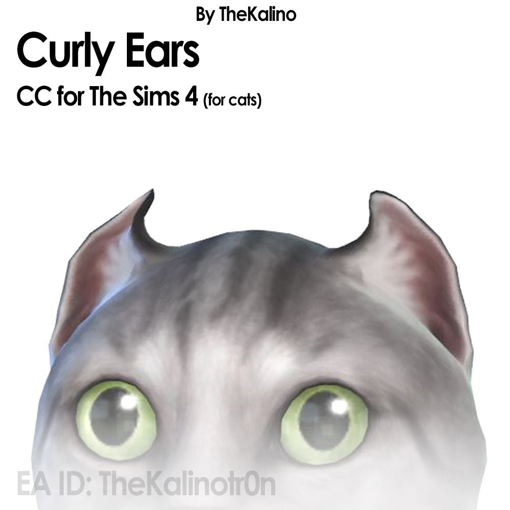 New Tails And Ears For Your Cats Curly Ears Https Simfileshare