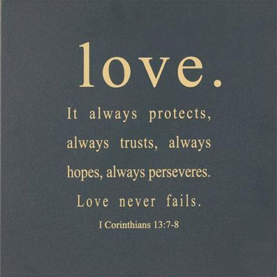 Beautiful Bible Verses. Love Does Not Fail...it Is The People Which Fail