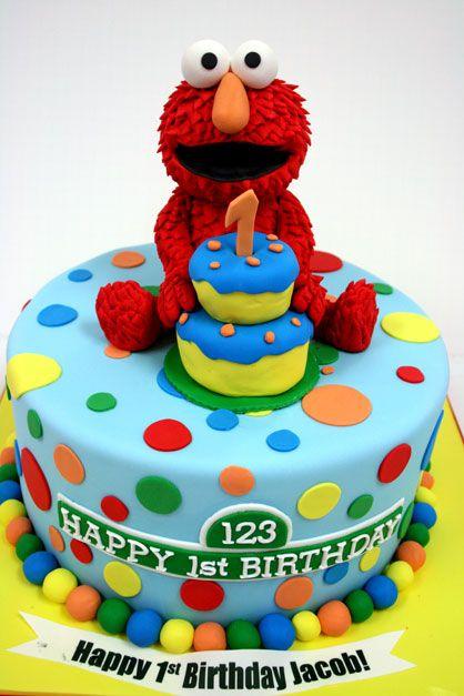First Birthday Cakes Nj Elmo Custom Cakes 3 Birthday