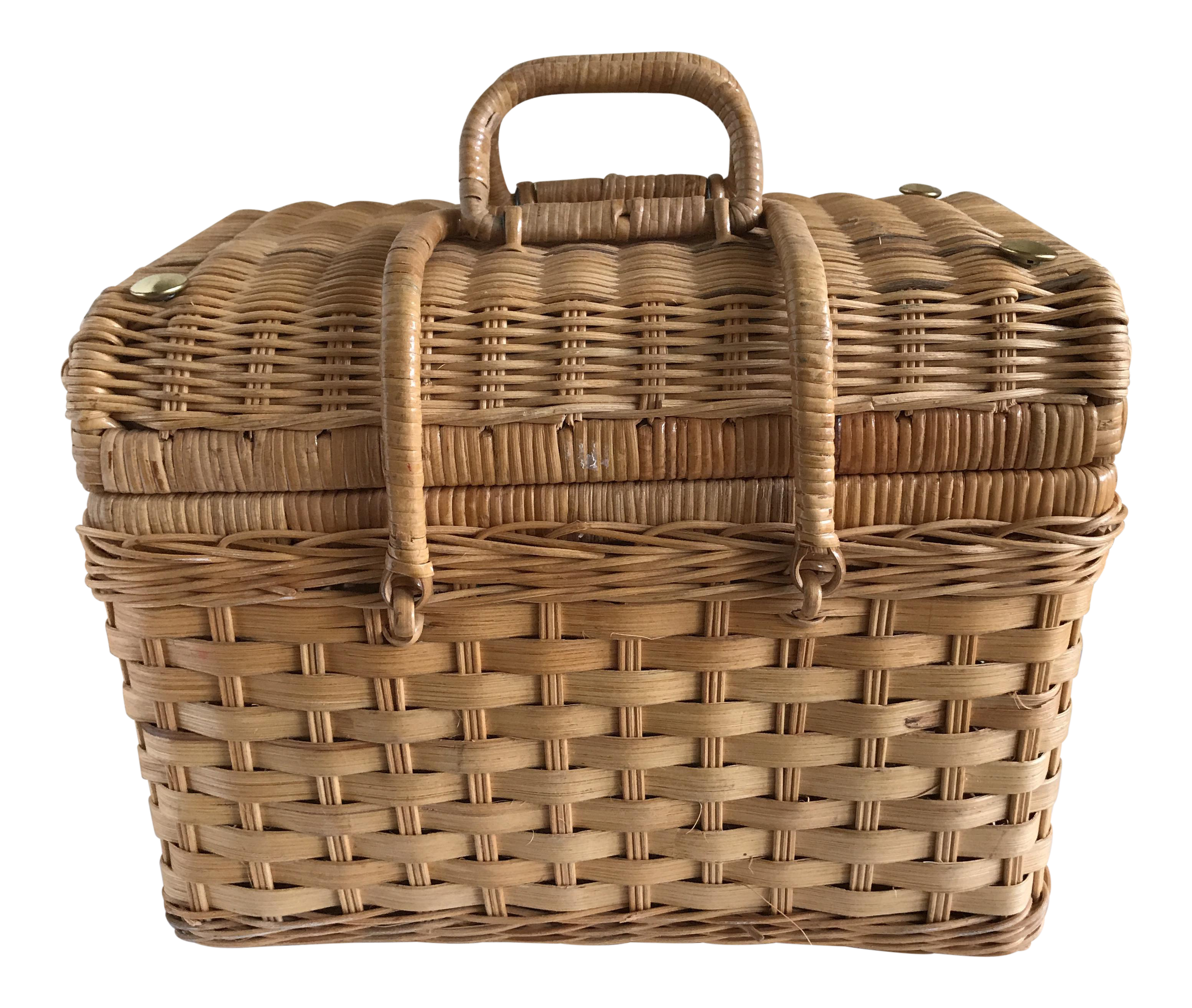 Boho Wood Picnic Basket Case Picnic Basket Basket Wooden Basket