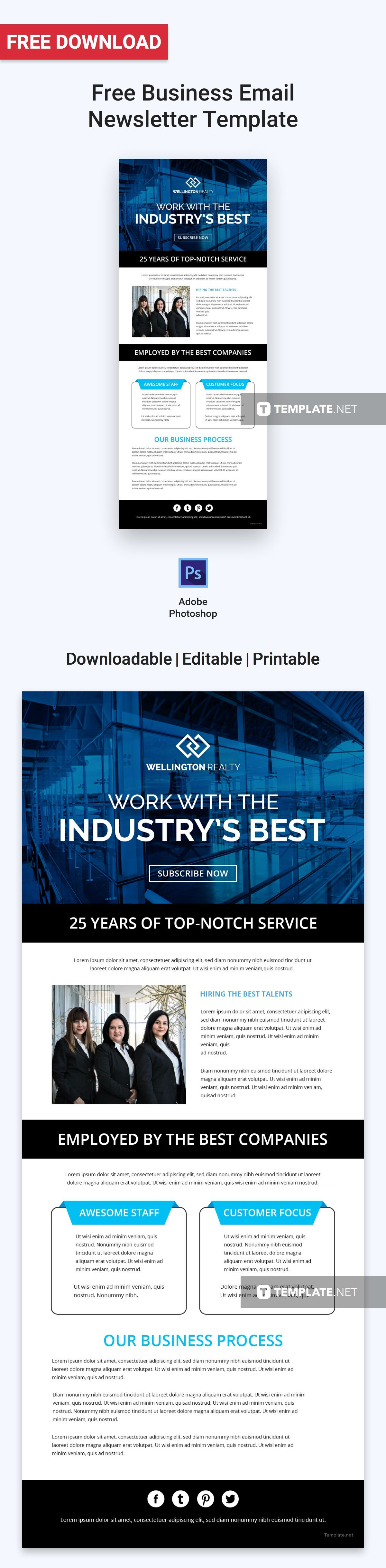 Free Business Email Newsletter Email Newsletters Templates