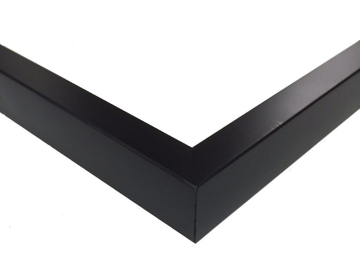 17x22 Black Matt Finish Contemporary 0.62\' Wide Solid Wood Wall ...