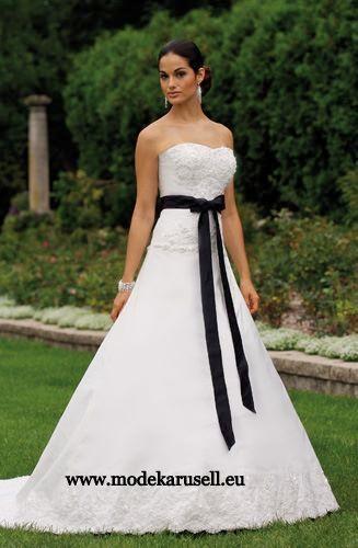 bustier brautkleid hochzeitskleid farbig weiss schwarz mit. Black Bedroom Furniture Sets. Home Design Ideas