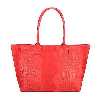 Photo of ITAL DAMEN LEDER TASCHE KROKO-Prägung Shopper Handtasche Schultertasche Hobo Ba…