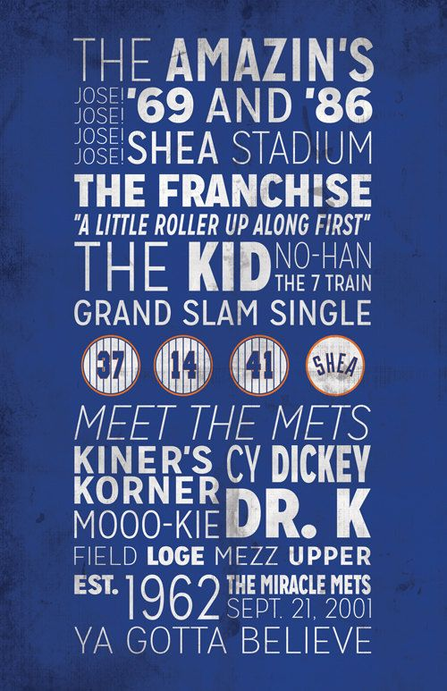 New York Mets Print Baseball Team Prints New York Mets