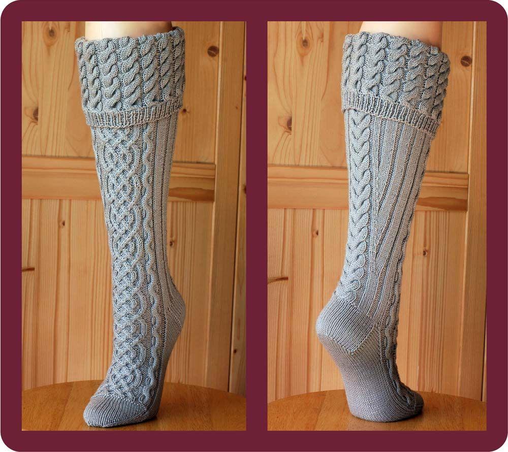 Sock pattern / PDF / style: Rhiannon | Knitting socks ...